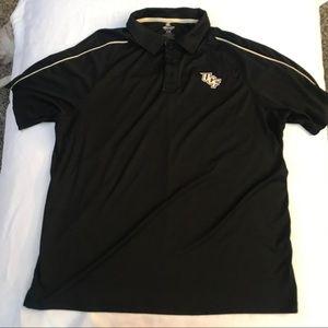 UCF Collared polo black shirt XL